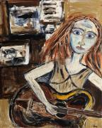 Maggis Art - Woman with Guitar