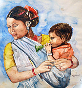 Anand Karambe - Woman With Kid