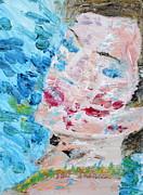 Woman With Necklace - Oil Portrait Print by Fabrizio Cassetta