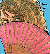 Mario Labonte - Woman with Pink Fan