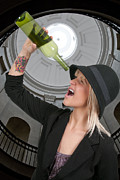 Connoisseur Photo Posters - Woman with Wine Poster by Rob Byron