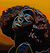 Brown Eyes Digital Art Posters - Womans Essence II              Poster by Byron Fli Walker