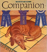 Nineteen Thirties Drawings Posters - Womans Home Companion 1930s Usa Dogs Poster by The Advertising Archives