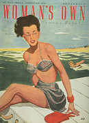 Swimsuits  Swimming Costumes Prints - Womans Own 1940s Uk Fashion Womens Print by The Advertising Archives