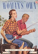 Nineteen-forties Drawings - Womans Own 1940s Uk Fishing Magazines by The Advertising Archives
