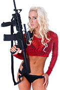 Hot Gun Posters - Women and Guns Poster by Jt PhotoDesign