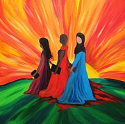 Courage Painting Originals - Women of Courage 11 by Kelly Simpson
