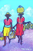 Granada Paintings - Women on Beach at Grenada by Frank Hunter