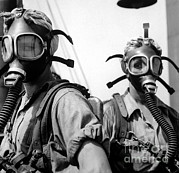 -wars And Warfare- Photos - Women Wearing Oxygen Masks by Stocktrek Images