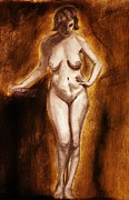 Michael Cross Metal Prints - Women with curves are beautiful 2 Metal Print by Michael Cross