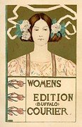 Poster  Prints - Womens Edition Buffalo Courier Print by Sanely Great