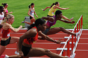 Womens Hurdles 3 Print by Bob Christopher