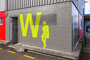 Toilet Prints - Womens Public Toilet Wellington NZ Print by Colin and Linda McKie