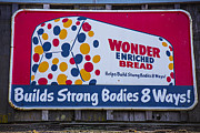 Signage Photo Posters - Wonder Bread Sign Poster by Garry Gay