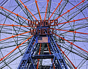 Luna Park Art - Wonder Wheel 2013 - Coney Island - Brooklyn - New York by Madeline Ellis