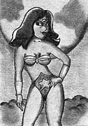 James Griffin Metal Prints - Wonder Woman Metal Print by James Griffin