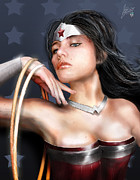 Superheroes Prints - Wonder Woman Print by Jason Longstreet