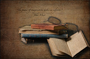 Books Digital Art - Wonderful Books by Erika Weber