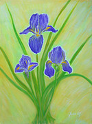Wonderful Painting Originals - Wonderful Iris Flowers. Inspirations Collection. by Oksana Semenchenko