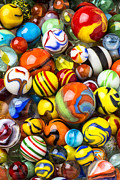 Pile Prints - Wonderful Marbles Print by Garry Gay