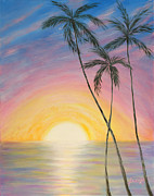 Wonderful Sunrise In Paradise2 Print by Oksana Semenchenko