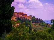 Hill Top Village Prints - Wonderful Tuscany Print by Dany Lison