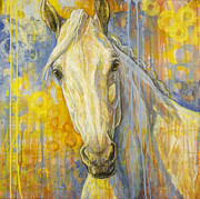 White Horse Paintings - Wondering by Silvana Gabudean