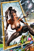 Battle Drawings Framed Prints - Wonderland 01B CALIE Framed Print by Zenescope Entertainment