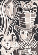 Mad Hatter Prints - Wonderland Print by Heidi Bjork