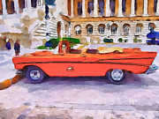 Live Art Digital Art Prints - Wonna Ride this Car Print by Yury Malkov