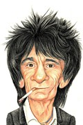 Ronnie Wood Art - Wood and strings by Margaret Sanderson