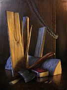 Masculine Paintings - Wood Box by Timothy Jones