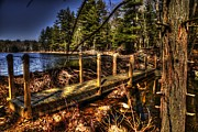Old Shack Photos - Wood Bridge by Craig Incardone