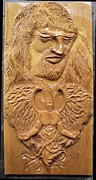 Carving Sculptures - Wood carving Sculpture - Begging for mercy - Angel god face - woodcraft woodwork entalhe madeira by Ton Dias