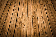 Wood Plank Flooring Prints - Wood Deck Background Print by Brandon Bourdages