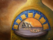Italian Kitchen Paintings - Wood Fired by Chad Berglund