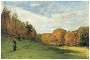 Gathering Posters - Wood Gatherers at the Edge of the Forest Poster by Claude Monet