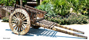 Pull Digital Art Posters - Wood Hand Cart II Poster by Barbara Snyder