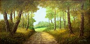 Sicily Paintings - Wood path by Luciano Torsi
