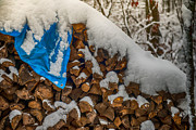 Paul Freidlund - Wood Pile In The Snow