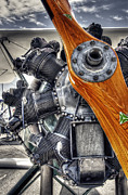 Airplane Engine Photos - WOOD PROP and ENGINE by Daniel Hagerman