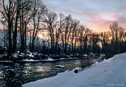 Brrrr Framed Prints - Wood River Sunrise - Winter Framed Print by Jason Hanny