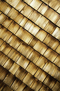Glenn Wood Framed Prints - Wood Shingles Abstract Framed Print by Glenn Gordon