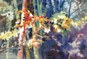 Autumn Woods Painting Prints - Wood Song Print by Kris Parins