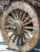 Pull Digital Art Posters - Wood Wheel Poster by Barbara Snyder