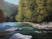 Appalachian Pastels Prints - Woodbine Print by Angela Robey