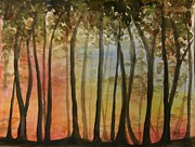Wooded Sunset Print by Bev Arnold