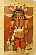 American Indian Reliefs - Wooden Art Kachina by Patrick Trotter