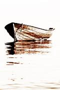 Freedom Mixed Media - Wooden boat by Jana Behr