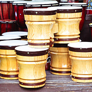 Drum Art - Wooden bongos by Tom Gowanlock